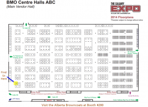 Calgary Expo 2014 - Floor Map for Booth 200