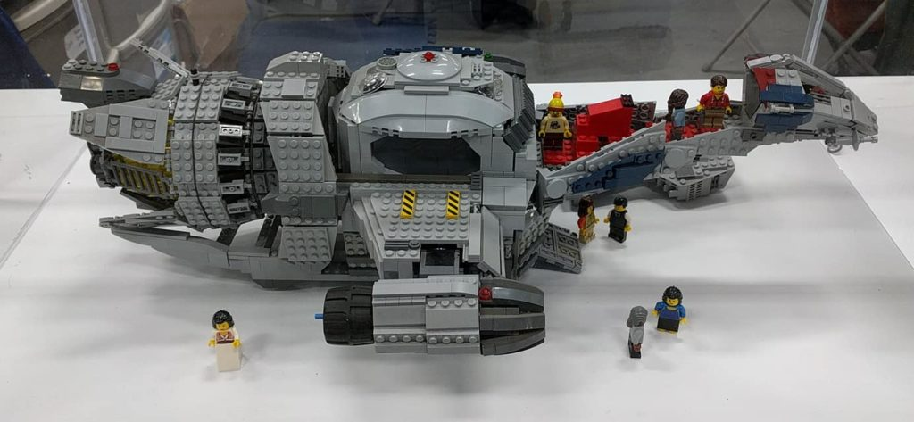 Lego Serenity. Designed and built by Don Verrier