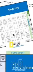 Map of booth location 2504.